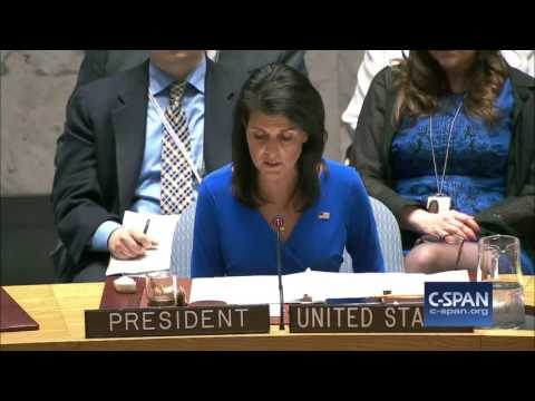UN Ambassador Nikki Haley on Syria Gas Attack (C-SPAN)