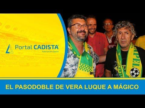 La chirigota de Vera Luque le dedicó este pasodoble a Mágico González en Cádiz