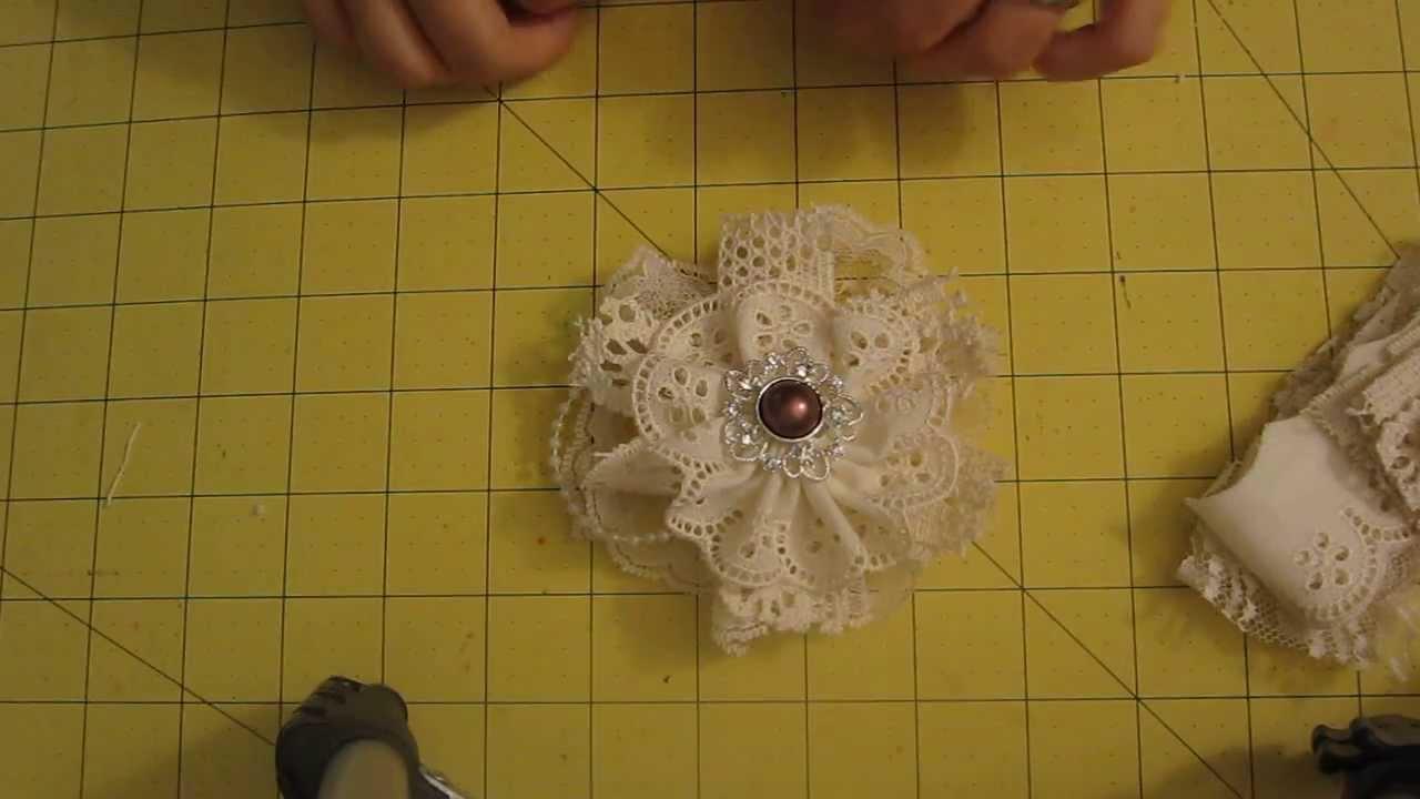 Como hacer flores con encajes youtube - Como hacer figuras con chuches ...