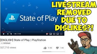 Sony Faces Backlash & Removes State Of Play Live Stream!