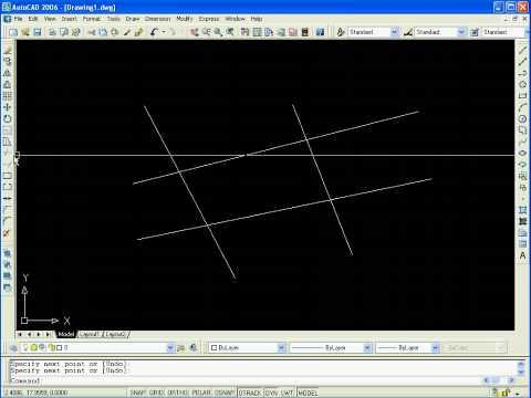 Autocad tutorial - How to trim a line