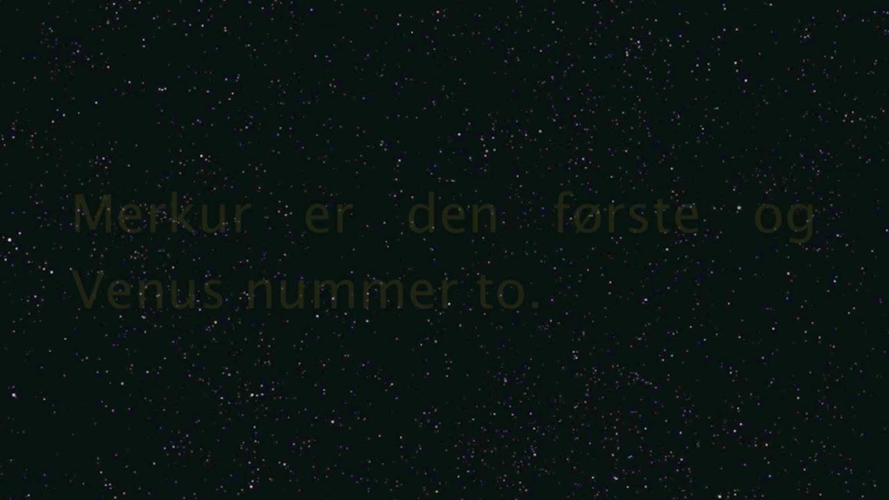Rekkefølgen på planetene i solsystemet