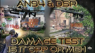 Lifeafter AN94 Assault Rifle and DSR Sniper Rifle Damage Test! is it op? or meh, lets find out!