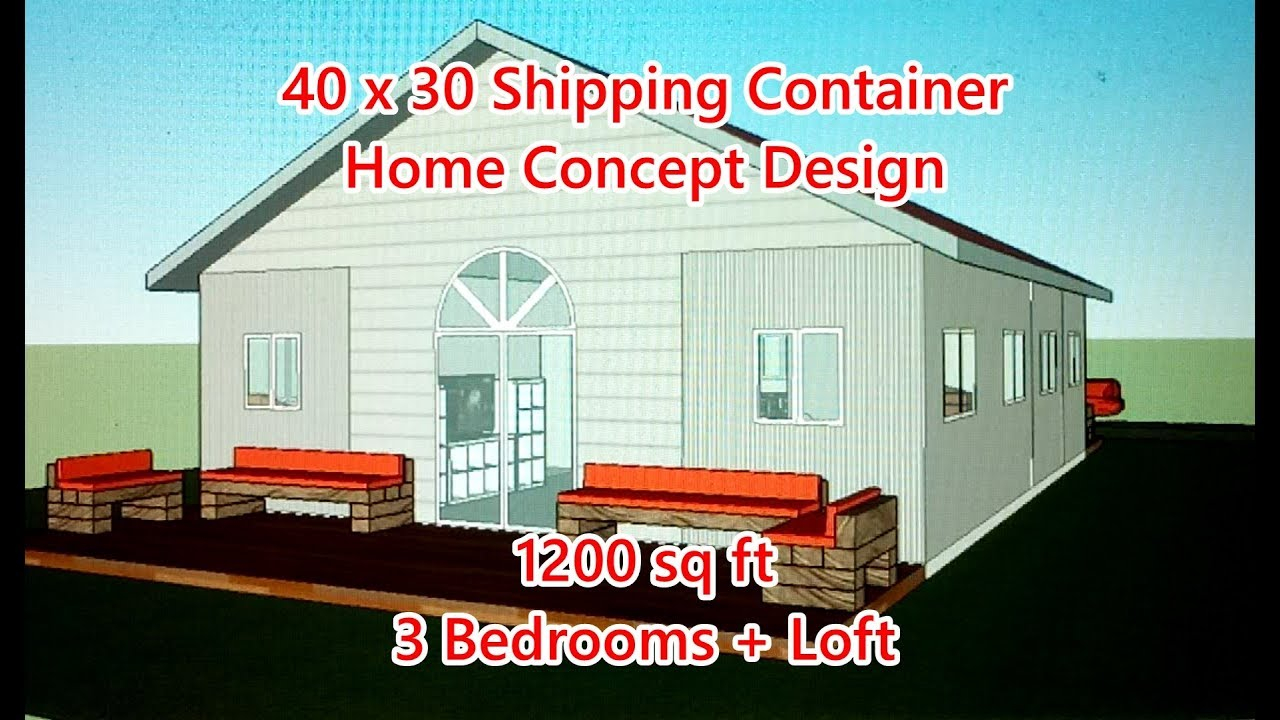 Epic 40 x 30 Container Home + Loft Design Concept - YouTube Concept Design Mobile Homes on concept cars, future flying homes, concept travel trailers, fleetwood homes, open-concept homes, small cottage style modular homes, concept campers, bungalow style homes, shipping trailer homes, concept motorcycles, portable homes, concept tents, concept houses, inside shipping container homes, eco modular homes,