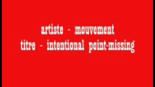 artiste - mouvement, titre - intentional point missing