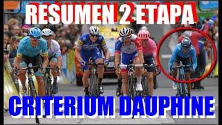 Criterium DAUPHINE Resumen 2 Etapa NAIRO Quintana YA ES QUINTO FROOME y PINOT Atacaron