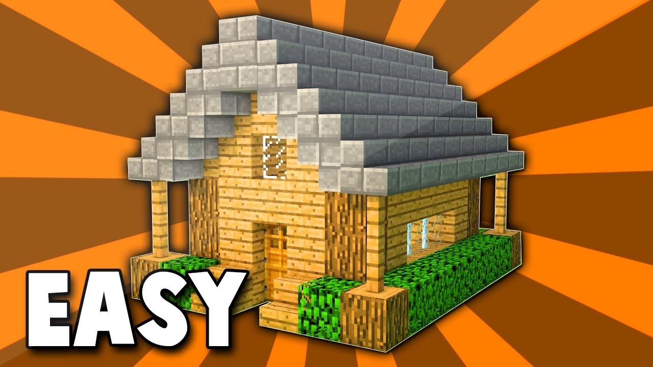 1 Minecraft How To Build A Small Wooden Survival House