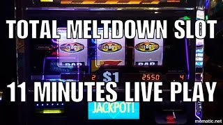 💥11 Minutes of Total Meltdown Slot Play💥Live Play & Bonuses💥