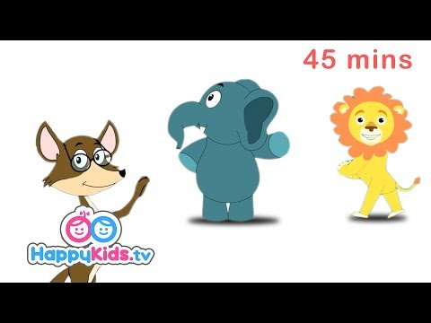 Fox, Tiger | Wild Animal Songs | Rhymes For Kids, Children Babies | Happy Kids | Jungle Beats