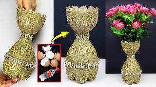 Sb Crafts How To Make A Flower Vase At Home Plastic Bottle Flower Vase Home Decor Ideas