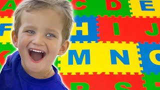 Learn ABC Alphabet Pretend Play with Mark his parents   Kids Learn English Alphabet & ABC Song