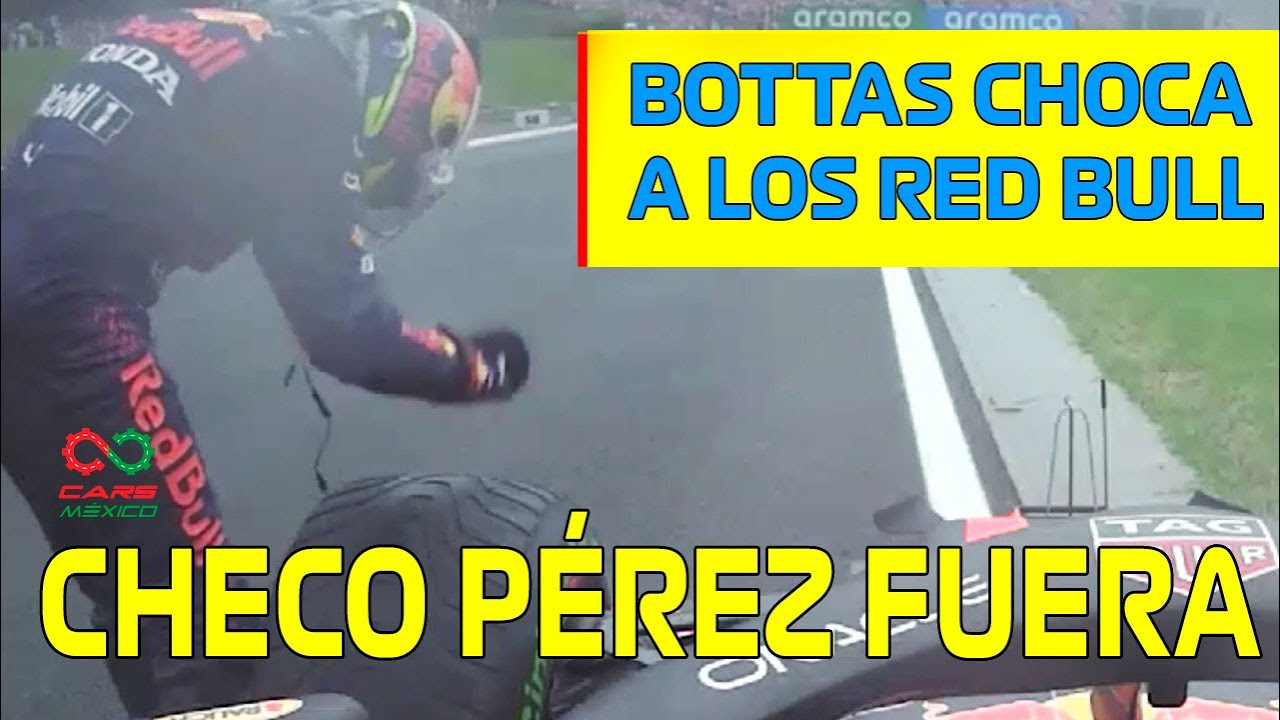 CAOS TOTAL EN LA SALIDA CHECO PEREZ FUERA DEL GP HUNGRIA F1