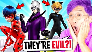 HAWK MOTH Turns MIRACULOUS LADYBUG & CAT NOIR EVIL In MINECRAFT! (LankyBox Minecraft MOVIE!)