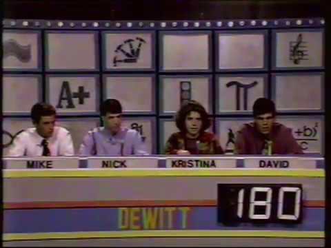 WKAR QuizBusters - DeWitt vs. Clare (Dec. 27, 1993)