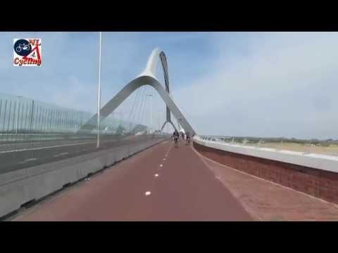 Ride on De Oversteek (The Crossing) bridge Nijmegen (Netherlands)