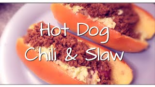 Cook With Me! | Hotdog Chili & Cole Slaw Recipe 😋