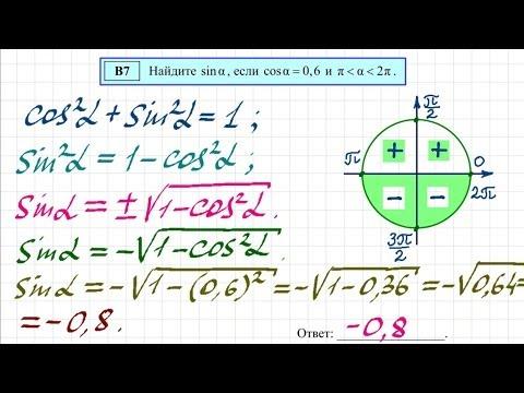 Демо-вариант ЕГЭ по математике. Задача 9