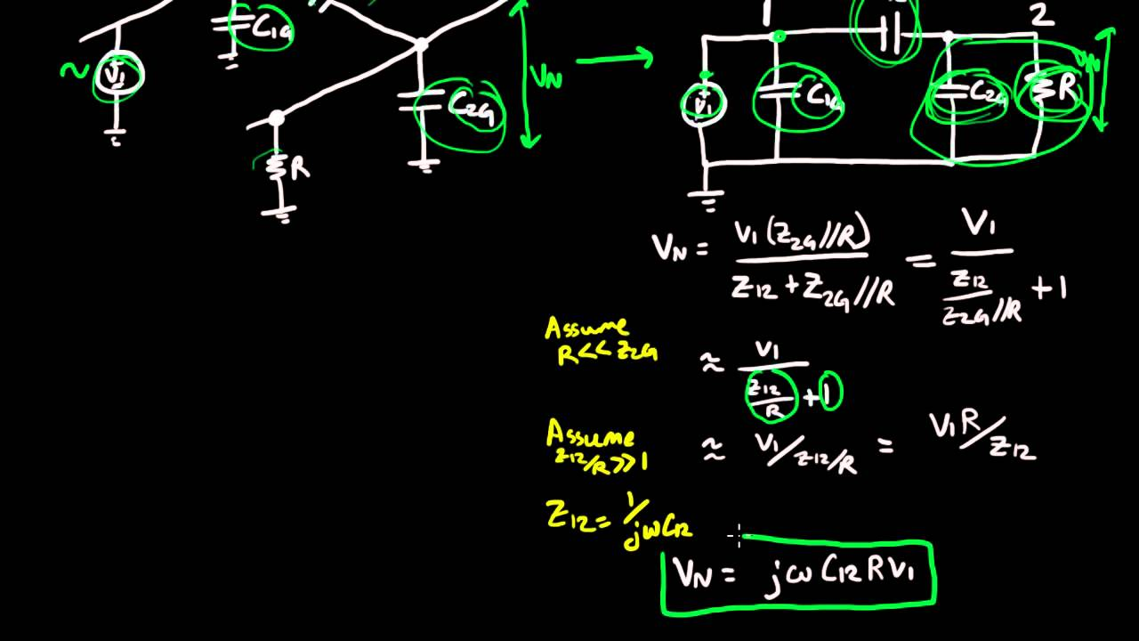 Capacitive Coupling in Circuits
