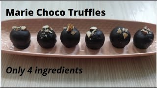 Marie Choco Truffles| Choco balls with Marie Biscuits| Easy to make Chocolate balls at home