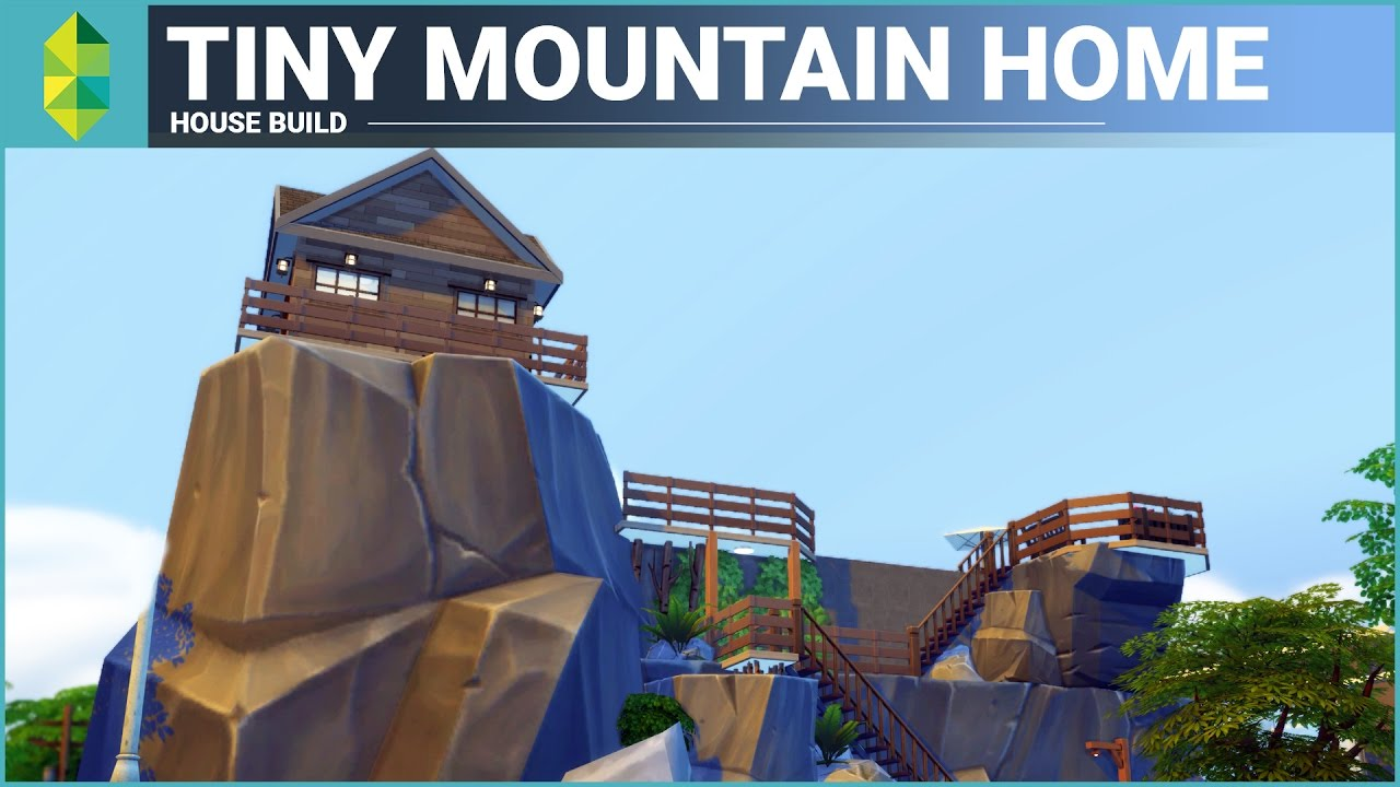 The Sims 4 House Building Tiny Mountain Home 5x4 grid YouTube