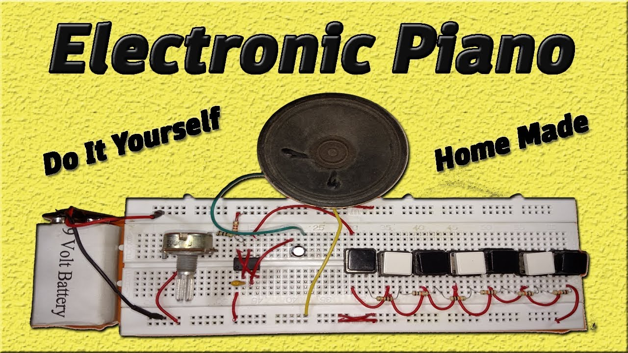 Electronic Piano Using 555 Timer Ic Easy Diy Homemade Simple Electronics Circuit Projects