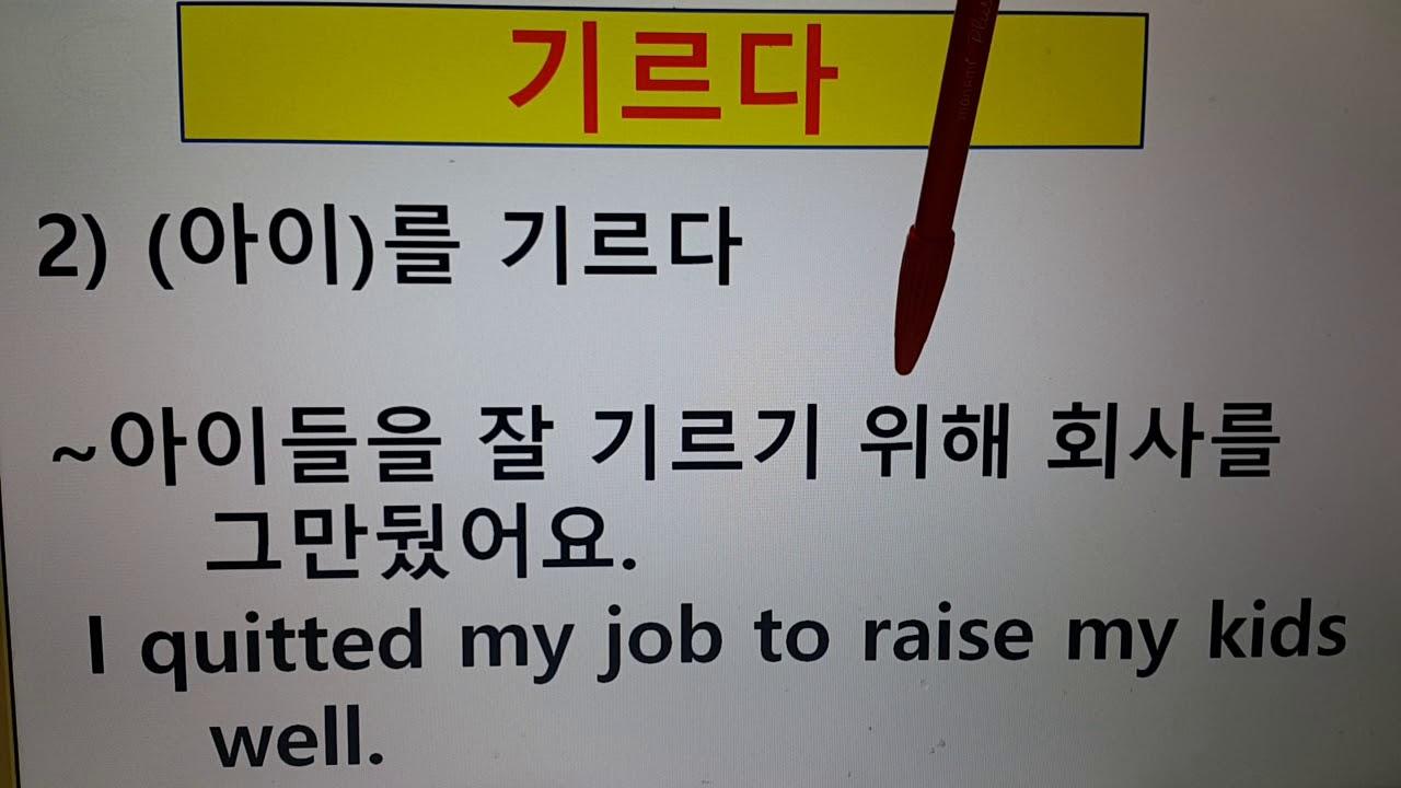 #141기르다(raise)/다의어(multiple meanings)