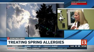 Carlos Diaz talks to an allergy specialist about how to fight aller...