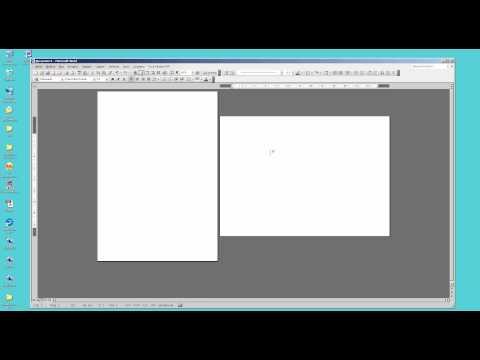 Как создать альбомную и книжную страницу в одном документе в Microsoft Word 2003