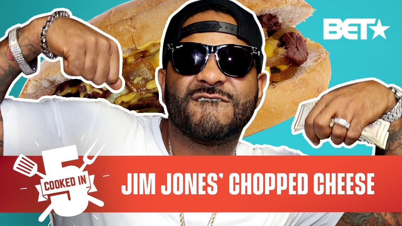 Jim Jones Reps Harlem By Making A Chopped Cheese In Just 5 Minutes!   Cooked In 5