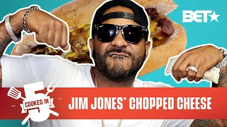 Jim Jones Reps Harlem By Making A Chopped Cheese In Just 5 Minutes! | Cooked In 5