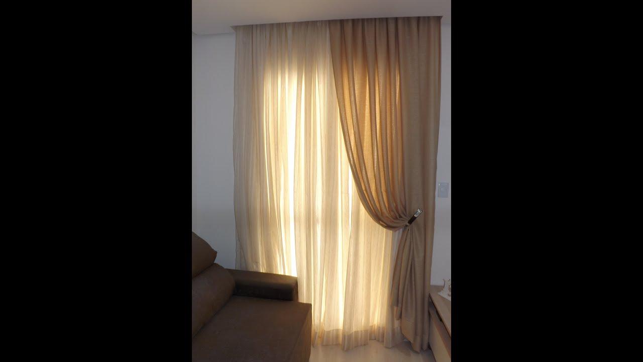 Como fazer cortina para sala  YouTube