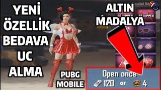 YENİ ÖZELLİK BEDAVA UC ALMA ALTIN MADALYA PUBG Mobile 2019 Ücretsiz Free UC