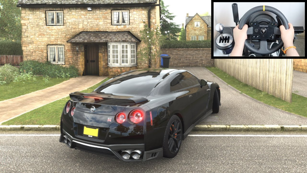 Forza Horizon 4 Nissan GTR R35 vs Police Chase (Steering Wheel + Paddle Shifter) Gameplay