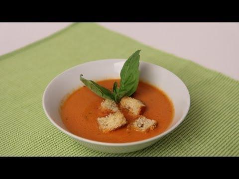 Homemade Tomato Soup Recipe – Laura Vitale – Laura in the Kitchen Episode 454