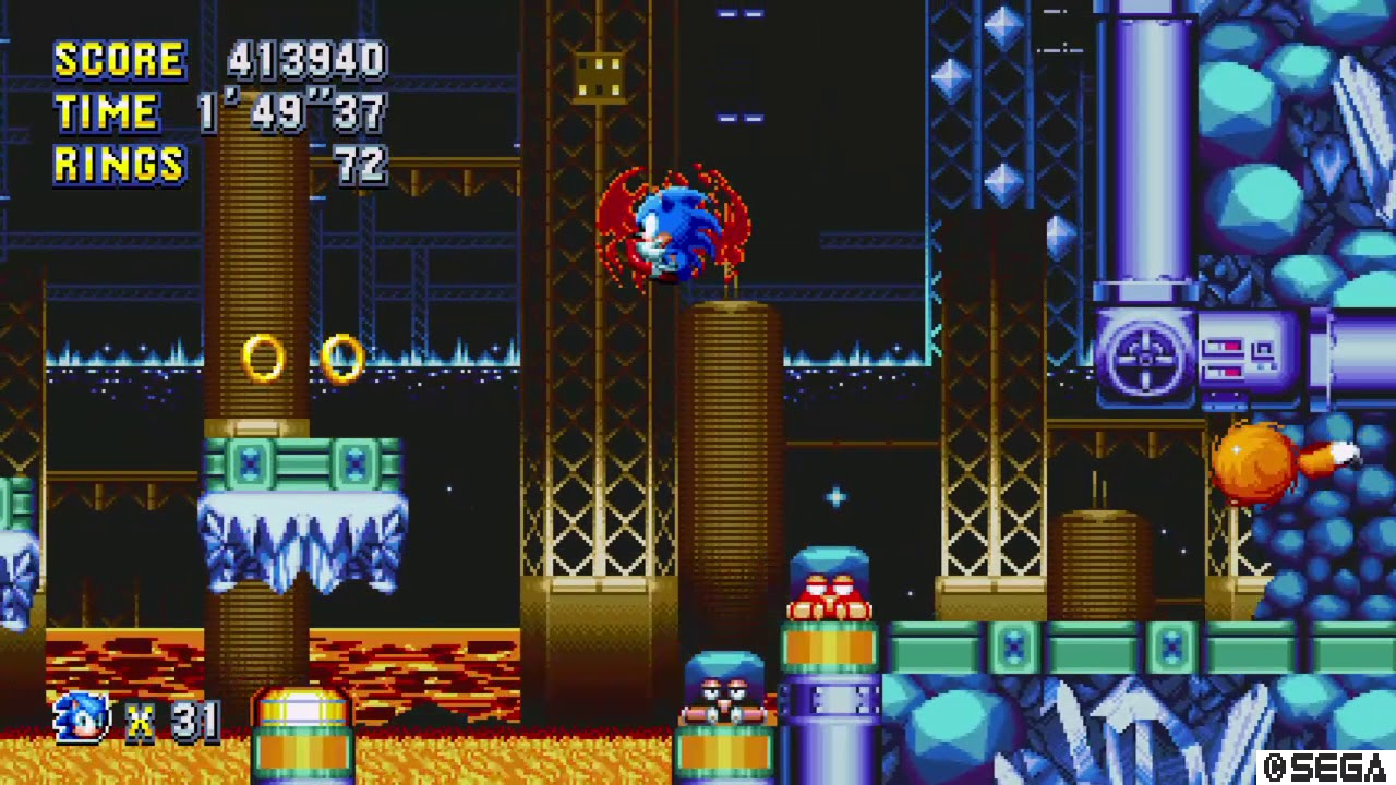 Sonic Mania - Lava Reef Zone Act 2 Special Stage Rings