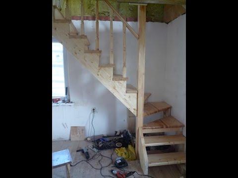 Лестницы своими руками в садовый домик 34