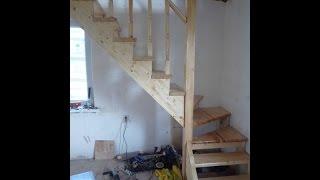 Деревянная лестница в доме, сделанная свими руками, реальный пример решения  задачи(При строительстве дома часто возникает необходимость возводить лестницу. Ведь большинство проектов подра..., 2016-08-31T13:15:31.000Z)