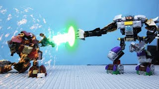 LEGO NEXO KNIGHT BATTLE ROBOT IRON MAN   STOP MOTION CARTOON FOR CHILDREN