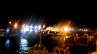 Sunseekers Poole, yacht on fire