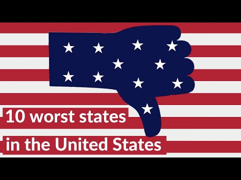 Top 10 worst states to live in the USA in 2020