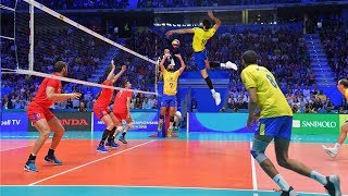 Monster Volleyball Spikes by Lucas Saatkamp | Best Middle Blocker (HD)
