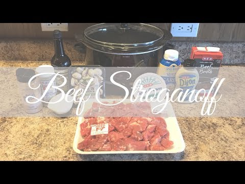 Easy Crockpot Recipe: Beef Stroganoff