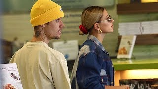 Justin Bieber And Hailey Baldwin Juice Up Before Hitting The Studio