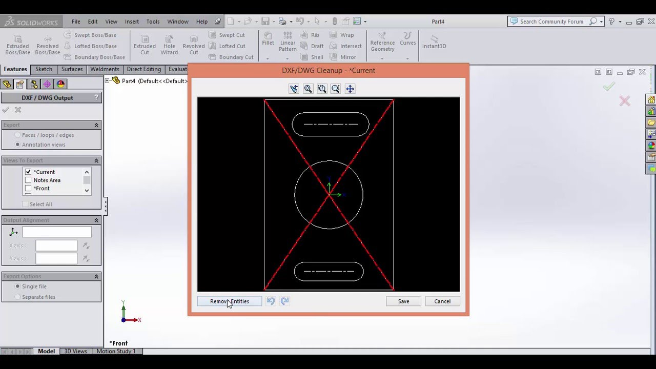 Save solidworks files as DXF for CNC laser cut machine