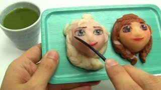 Decocookie's Frozen Anna and Elsa Nerikiri ~ アナと雪の女王 練りきり 和菓子 thumbnail