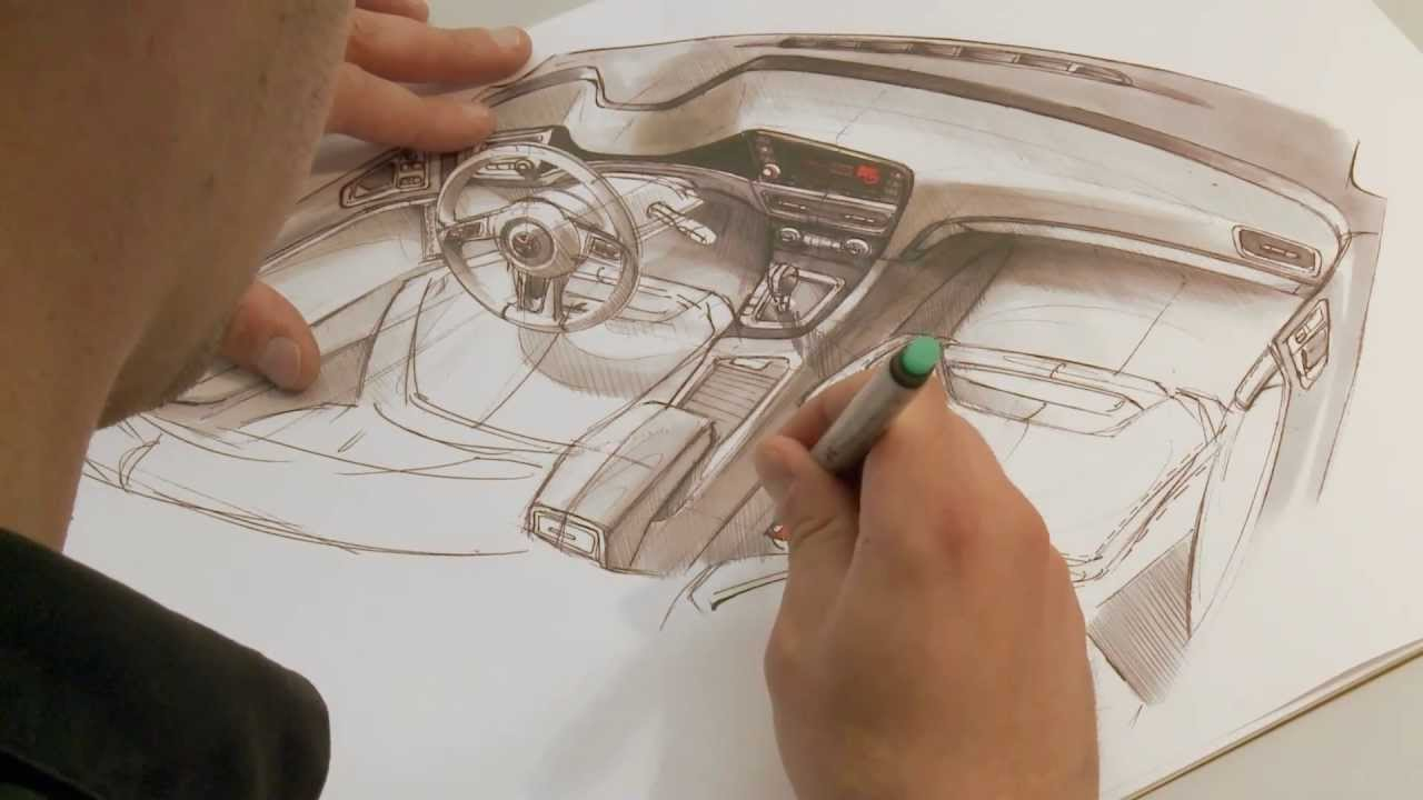 Volkswagen Golf Interior Design Sketches AutoMotoTV YouTube