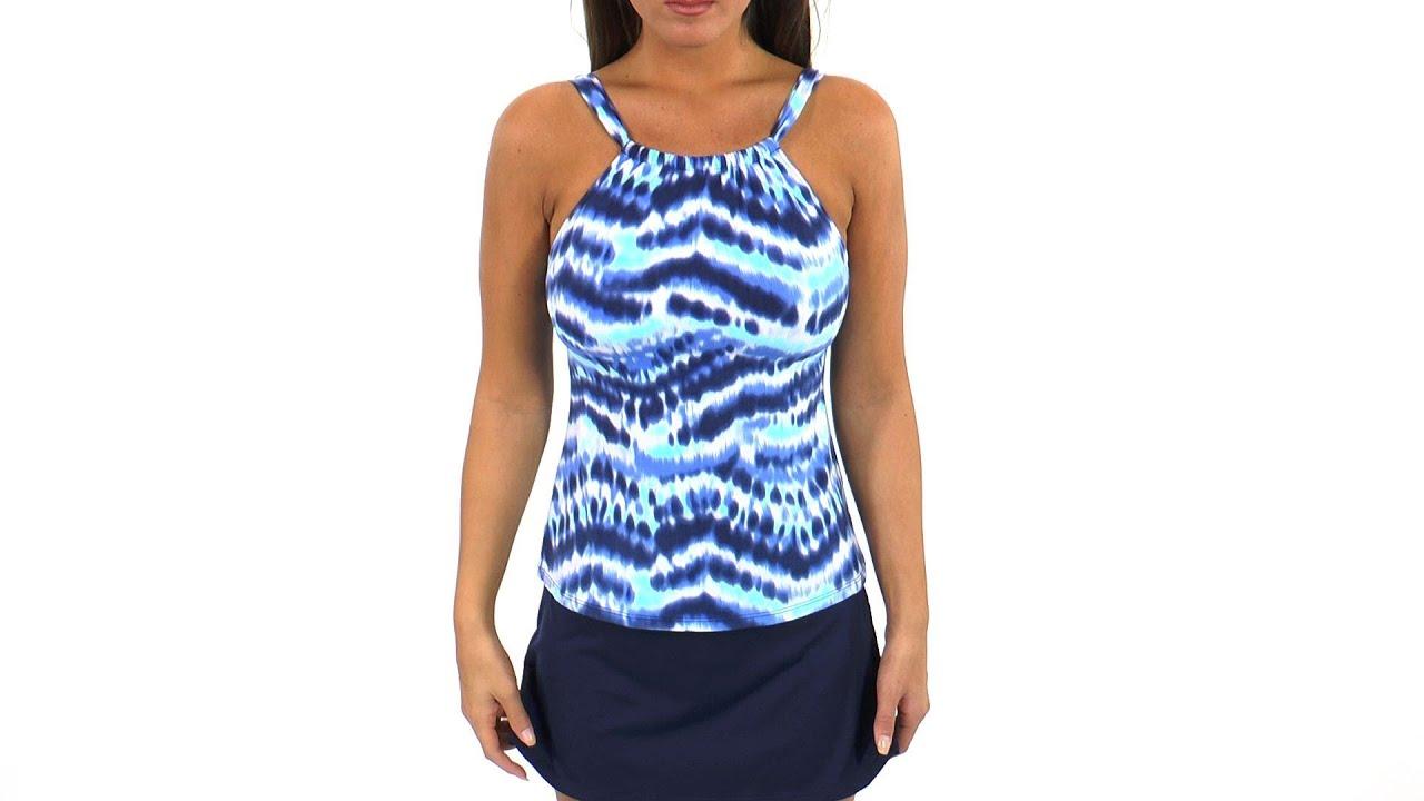 456f909648 Beach House Cape Cod Tie-Dye High Neck Tankini Top | SwimOutlet.com ...