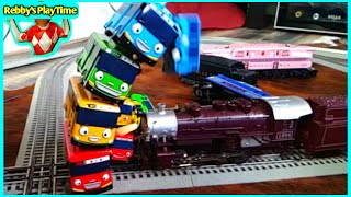 Colors For Children To Learn With Toy Trains The Little Bus Tayo 장난감
