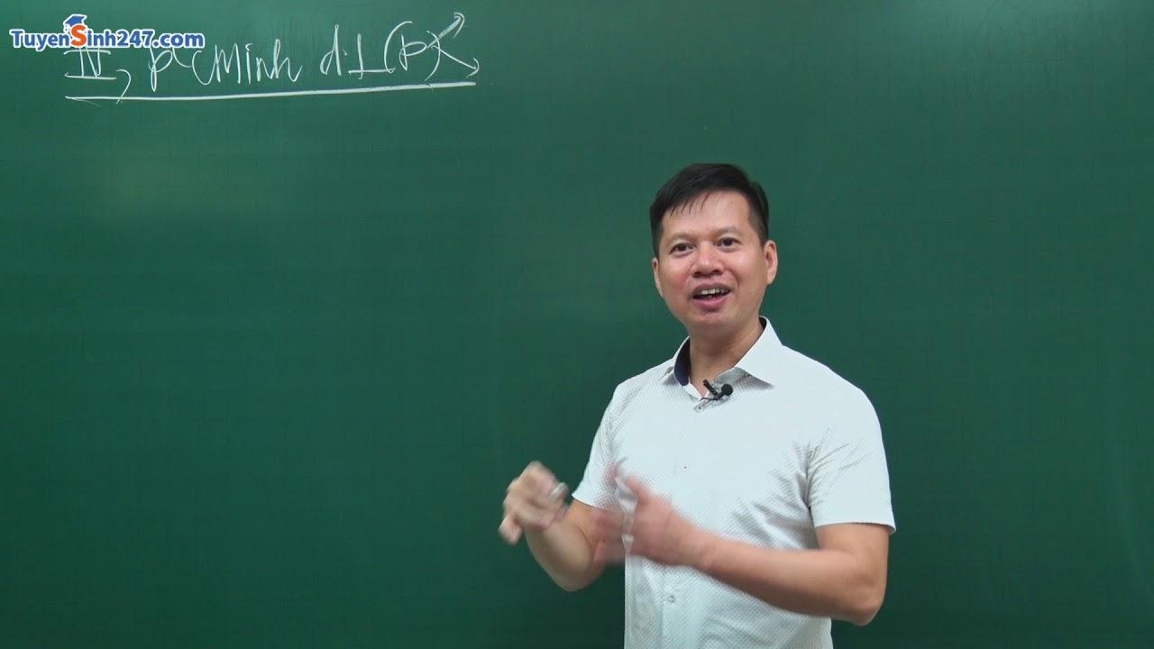 Chứng minh đường thẳng vuông góc với mặt phẳng – Môn Toán lớp 11 – Thầy Nguyễn Công Nguyên