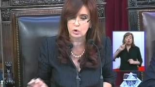 Apertura de sesiones  2011 Discurso de la Presidenta Cristina Fernández